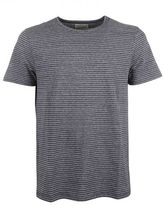 "Oliver Spencer Navy Micro Striped ""harper"" T-shirt"