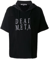 McQ embroidered death metal hoodie