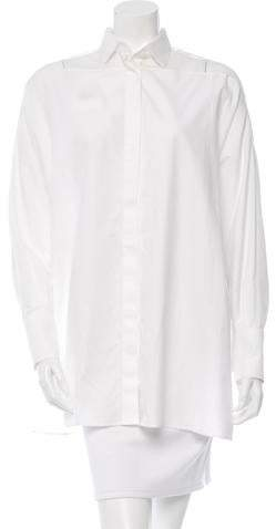 Valentino Oversize Button-Up Top w/ Tags