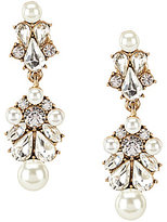 Belle Badgley Mischka Sweetheart Pearl & Crystal Chandelier Earrings