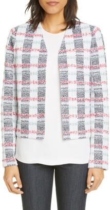 St. John Stripe Tweed Knit Jacket