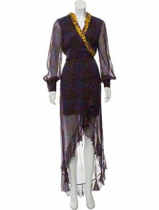 Raquel Diniz Silk Wrap Dress Violet