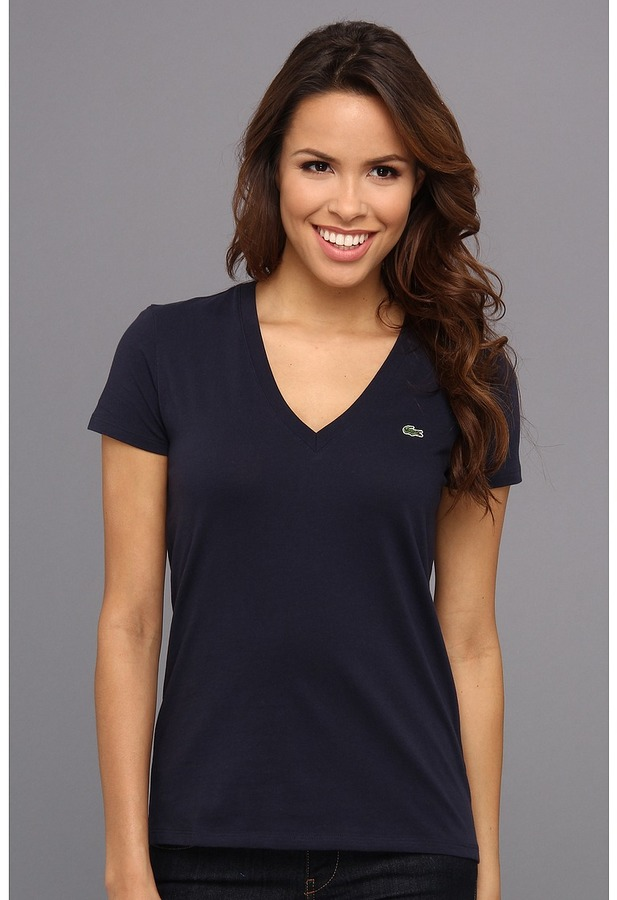 Lacoste S/S Jersey V-Neck Tee