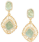 Kara Ross As Is Goldtone Simulated Drusy Earrings