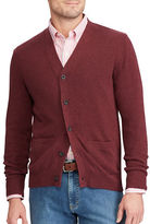 Chaps Big and Tall V-Neck Cotton Cardigan