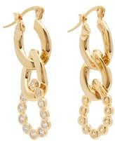 Hillier Bartley Crystal Curb-link Earrings - Womens - Crystal