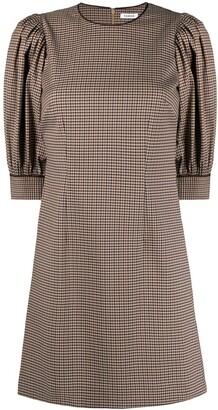 P.A.R.O.S.H. Check Pattern Mini Dress
