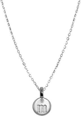 Alex Woo Silver Mini Letter M Pendant Necklace