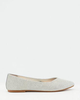 Le Château Glitter Mesh Pointy Toe Ballerina Flat