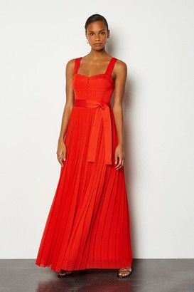 Karen Millen Multi Stitch Corset Top Maxi Dress