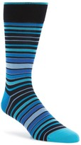 Bugatchi Men's Thick Stripe Crew Socks