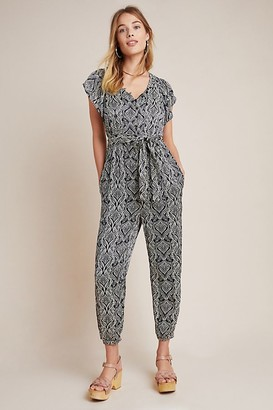 Anthropologie Savannah Printed Jumpsuit