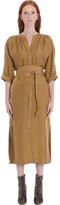 Zimmermann Dress In Gold Silk