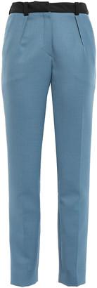 Thierry Mugler Two-tone Wool-twill Slim-leg Pants