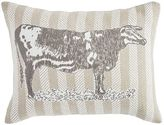 Pier 1 Imports Ticking Striped Applique Cow Lumbar Pillow