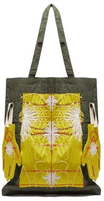Craig Green Embroidered Puckered-canvas Tote Bag - Mens - Yellow