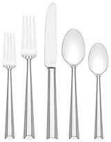 Kate Spade Library Lane Ribbed 5-Piece Stainless Steel Flatware Set