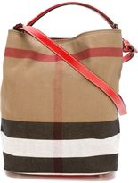 Burberry large 'Ashby' shoulder bag - women - Cotton/Jute/Leather - One Size