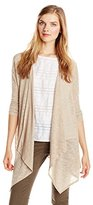 Pure Style Girlfriends Women's Draped Long Cardigan Sweater