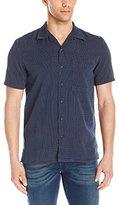 Nudie Jeans Men's Brandon Cross Short Sleeve Button Down Shirt