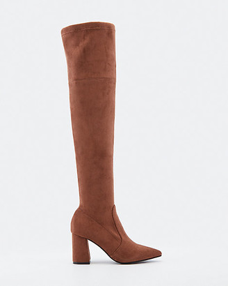 Le Château Faux Suede Pointy-Toe Over-The-Knee Boot