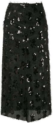 macgraw Embroidered Midi Skirt