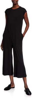 Eileen Fisher Wide Leg Jersey Jumpsuit