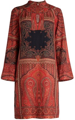 Etro Andravida Printed Keyhole Shift Dress