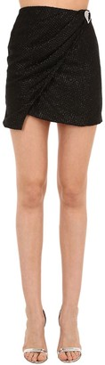 Silvia Astore Embellished Lurex Mini Skirt