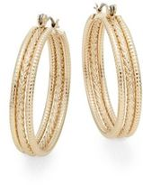 AK Anne Klein Anne Klein 3-Row Hoop Earrings/1.5