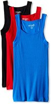 Papi Men's 3-Pack Cotton Square Neck Tank Top