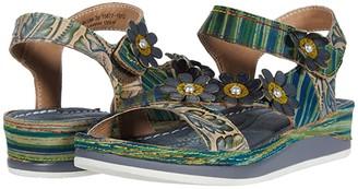Spring Step L'Artiste by Mahvash (Blue Multi) Women's Shoes