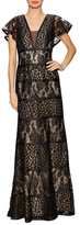 Basix II Lace Overlayer Evening Gown