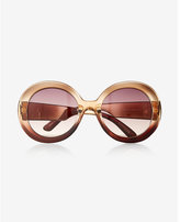 Express oversized thick round sunglasses