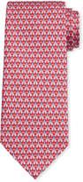 Salvatore Ferragamo Men's Image 5 Silk Tie w/ Shirt & Tie Motif