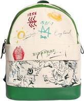Burberry Printed Canvas & Leather Backpack