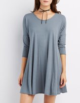 Charlotte Russe Ribbed Dolman Swing Dress