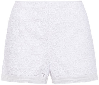 Charo Ruiz Ibiza Sequin-embellished Cotton-blend Guipure Lace Shorts