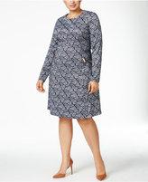 MICHAEL Michael Kors Woodbrook Plus Size Paisley-Print Fit & Flare Dress