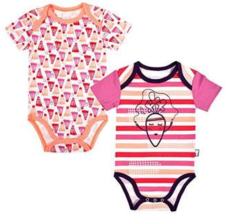 Camilla And Marc Set of 2 Baby Girls' Short Sleeved Bodysuits - Small Carrot - Size - 6 Months (68 cm)
