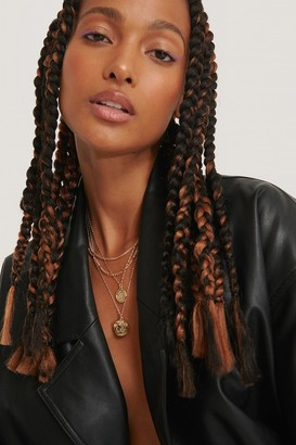 NA-KD Double Coin Drop Layered Necklace