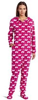 Casual Moments Women's One-Piece Footed Pajama