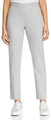 Donna Karan Pinstriped Straight-Leg Pants