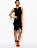Asos Asymmetric Wrap Skirt Sleeveless Dress