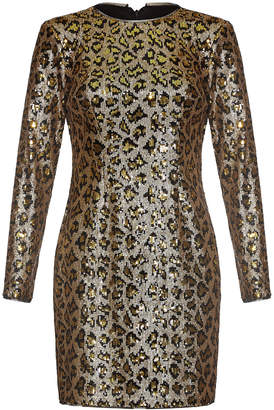 Aidan Mattox Leopard Sequin Sheath Dress
