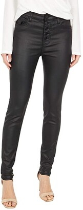 KUT from the Kloth Mia High-Rise Skinny in Black (Black) Women's Jeans