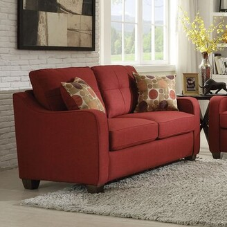 """Winston Porter Orchard Hill 59"""" Recessed Arm Loveseat"""