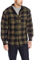 Dickies Men's Sherpa Lined Flannel Overshirt