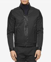 Calvin Klein Men's Coat with Faux Leather Trim