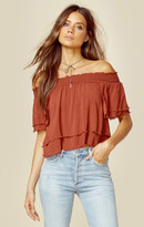 Blue Life show off shoulder top